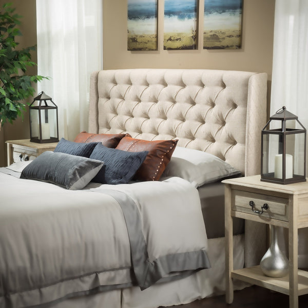 Leya Tufted Fabric Headboard