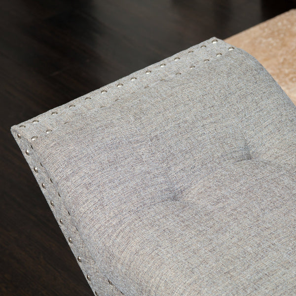 Roney Tufted Fabric Ottoman/Bench