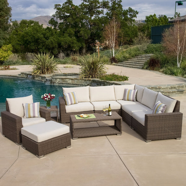 Garland Contemporary Outdoor 9Pc Seating Set