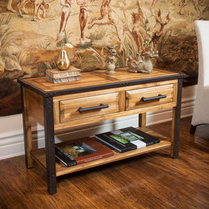 Luise Acacia Wood Console Table