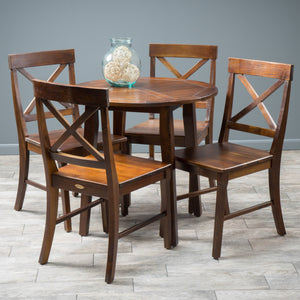 Carnellon Wood Round Table And Chair Set