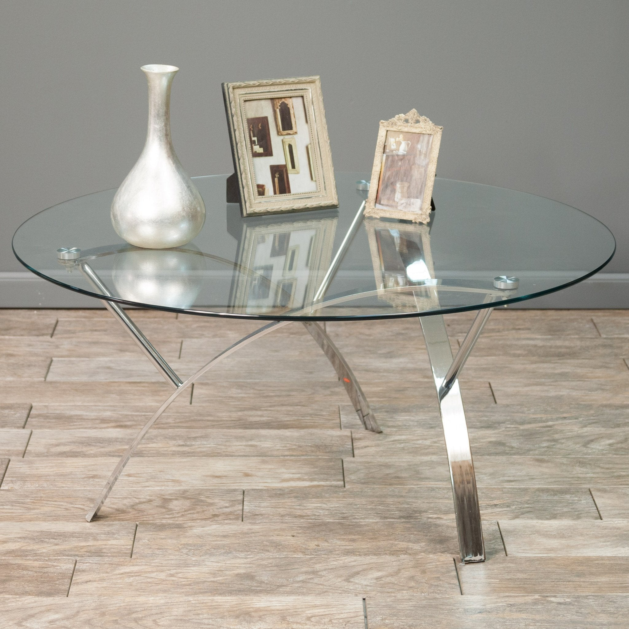 Marianne Round Glass Coffee Table