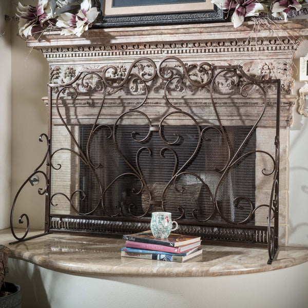 Cinnnabar Fireplace Screen