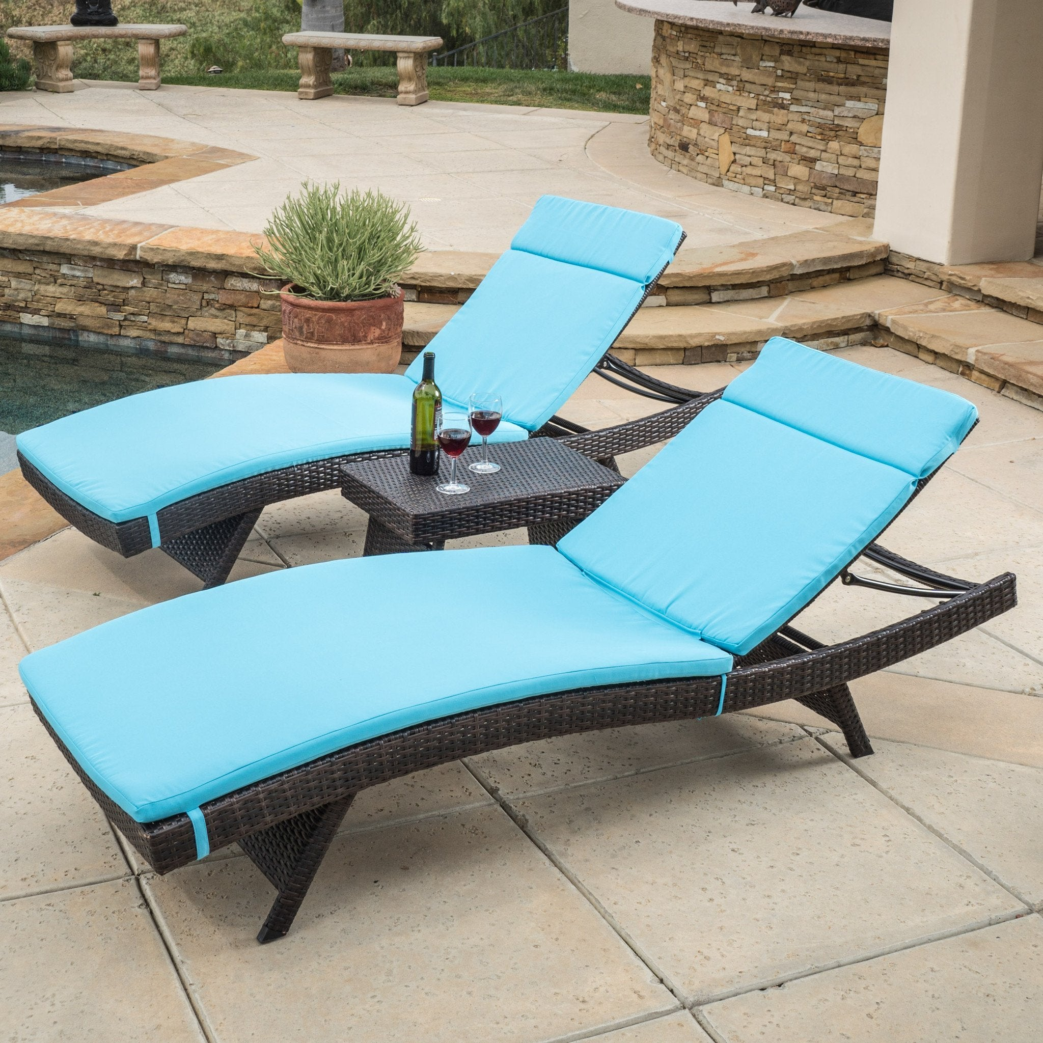 Sagan Chaise Lounger Set
