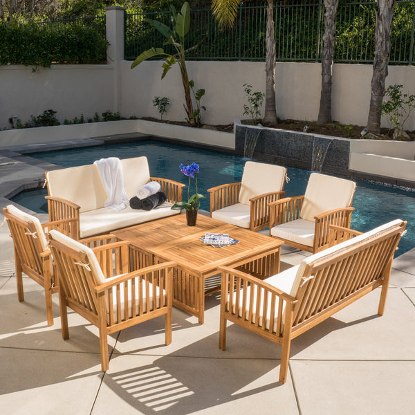 Carmody 4-Piece Outdoor Acacia Sofa Set