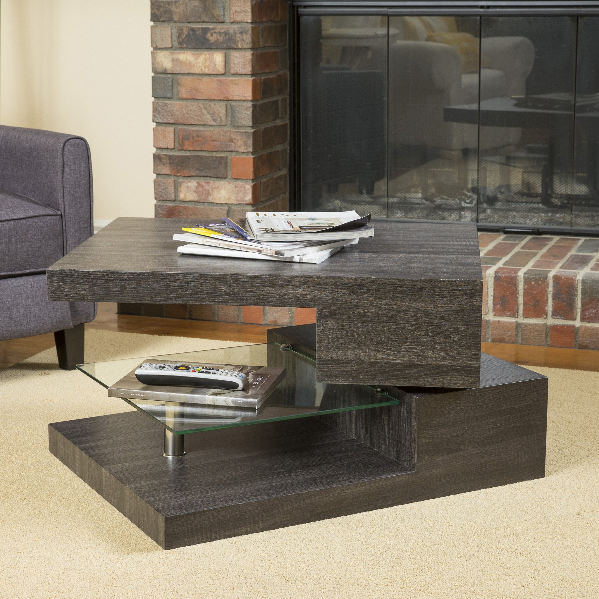 Skyler Rectangular Mod Table With Glass
