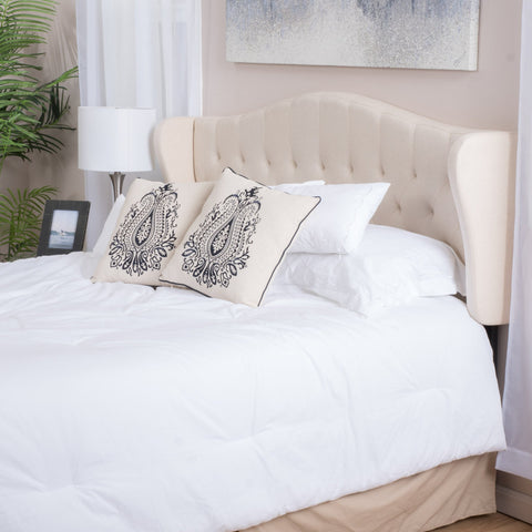 Alexa Adjustable Fabric Headboard