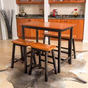Plymouth S/4 Cafe Table/Bench Counter Height Set