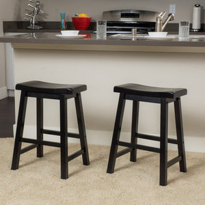 Plymouth 24In Saddle Stool (Set Of 2)