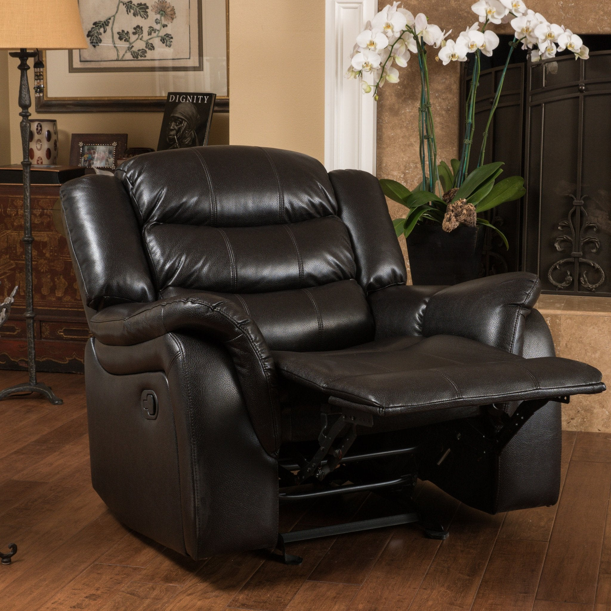 Haven Leather Recliner/Glider Chair