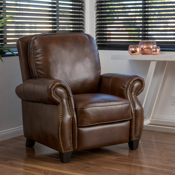 Nettie 2-Tone Push Back Recliner