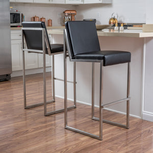 Vanda Leather Barstool (Set Of 2)
