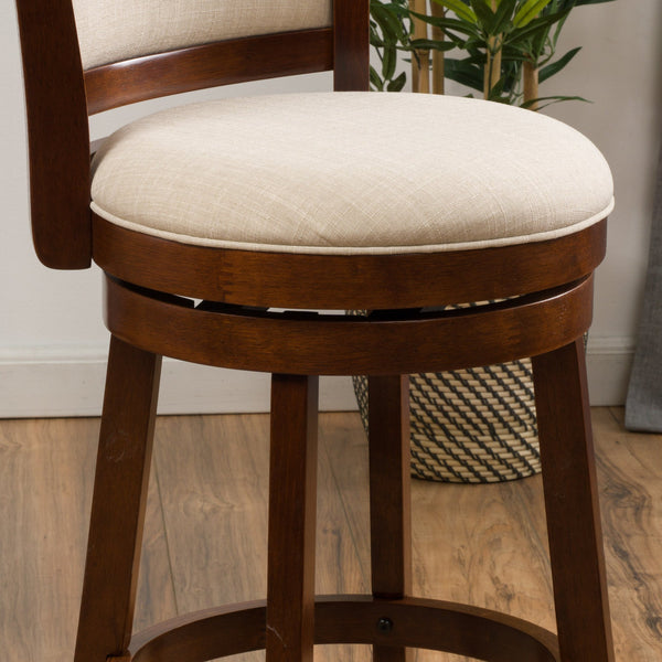 Navaeh Fabric Swivel Armless Counter Stool