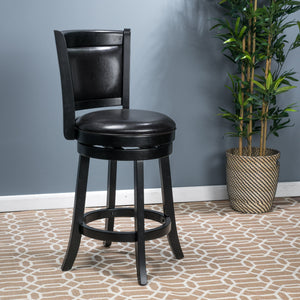 Navaeh Reconstituted Leather Swivel Armless Counter Stool