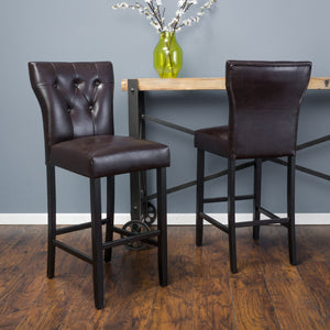 Caden Leather Barstool (Set Of 2)