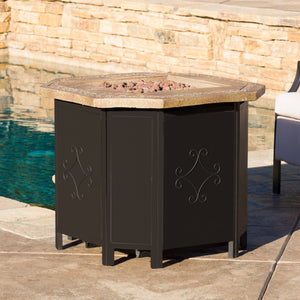 "Thira 30"" Kd Copper Octagonal Mgo Fire Pit- 40"