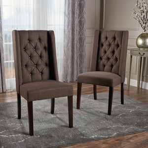Blossom Tufted Fabric Dining Chairs (Set Of 2)