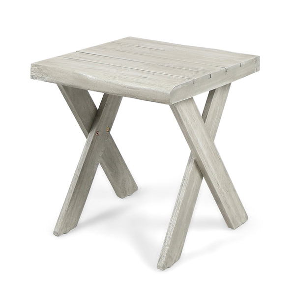 Dymnos Outdoor Acacia Wood Side Table