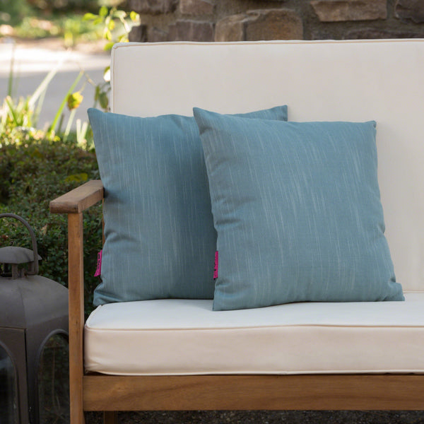 Beemon Outdoor Water Resistant 16 X 16 Square Pillows (Set Of 2)
