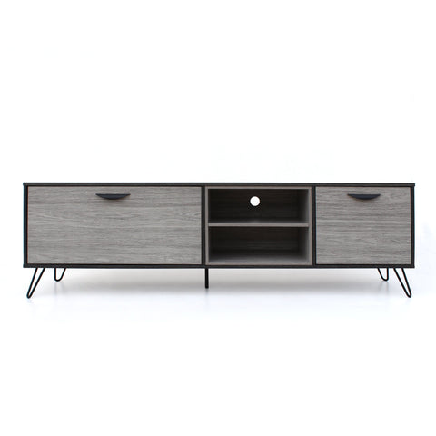 Irmgard Mid Century Modern Two Toned Finished Faux Wood Tv Stand