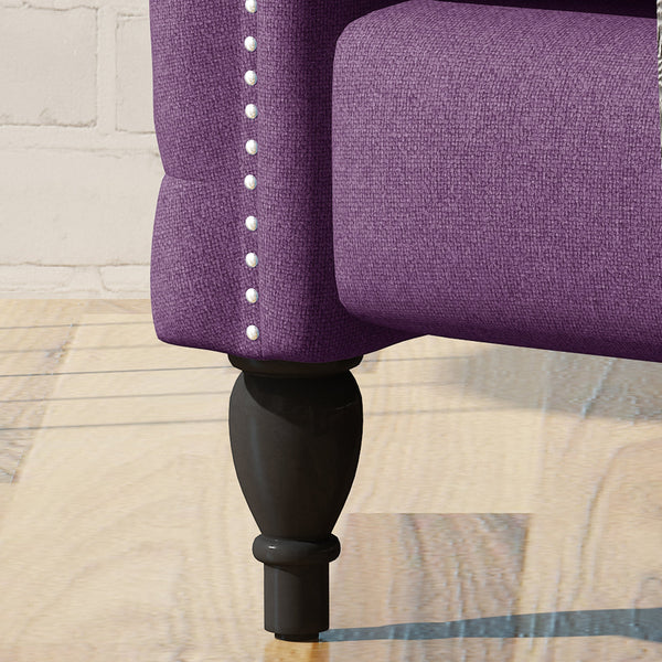 Alhambra Modern Tufted Fabric Arm Chair