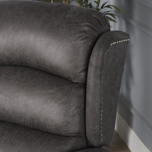 Despina Tufted Slate Microfiber Power Recliner