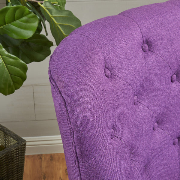 Angelina Tufted Fabric Club Chair