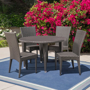 Jennys Outdoor 5 Piece Wicker Dining Set
