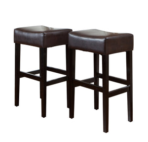 Lomita Contemporary Bar Stools | Color: Brown, Material: Bonded Leather, Bonded Leather: Color, Color: Brown