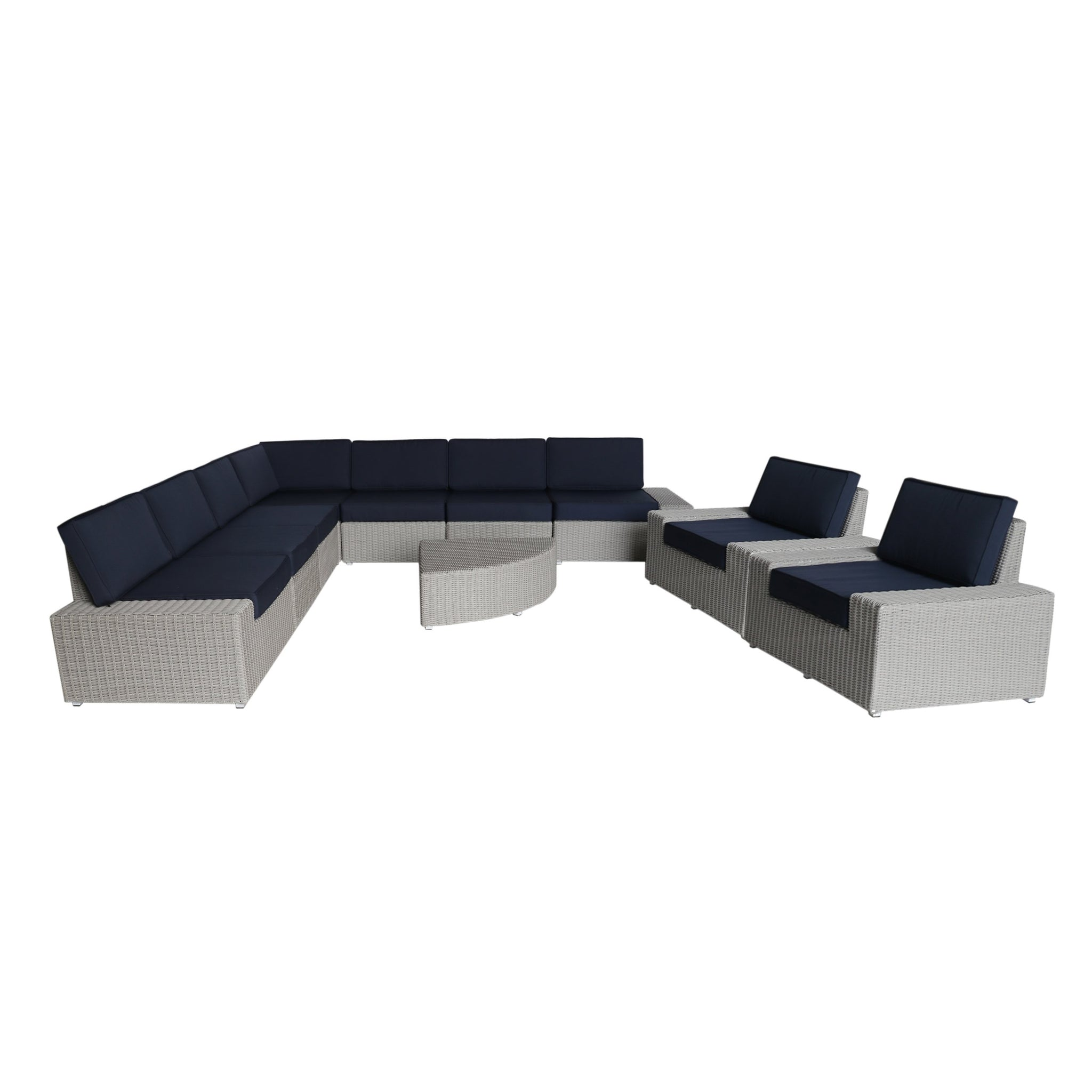 Sanger Outdoor 9 Seater Wicker Sofa Set