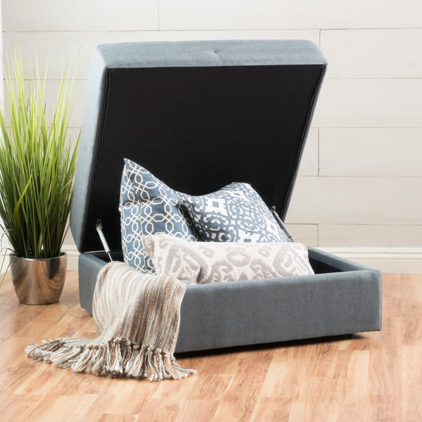 Bullpond Steel Fabric Storage Ottoman