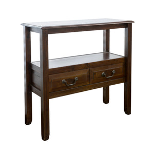Grady Acacia Wood Accent Table | Color: Brown, Color: Brown Mahogany