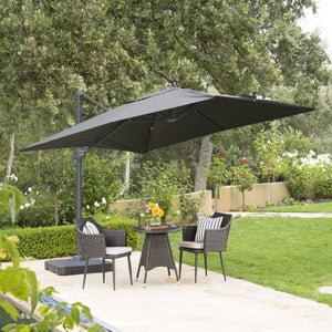 Gavi Outdoor 9.8 Ft. Canopy Umbrella With Resin Base And Aluminum Frame