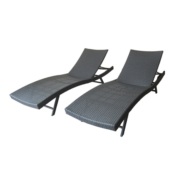 Kason Outdoor Wicker Chaise Lounge