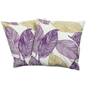 Alcanta Linen Fronds Pillows (Set of 2) | Color: White