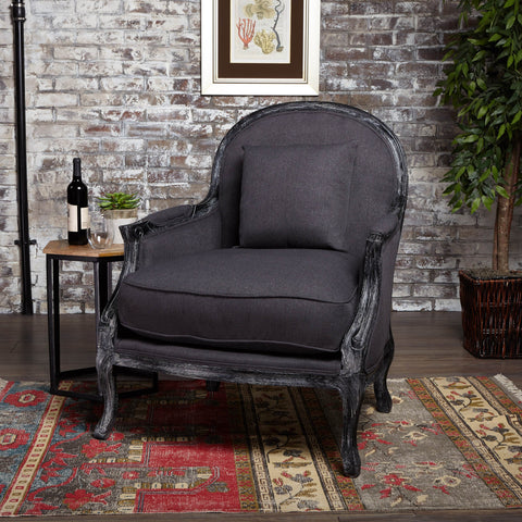 Newman Occasional Weathered Fabric Chair With Legs