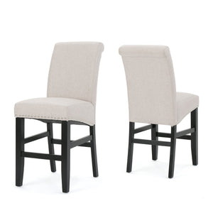 Linwood Fabric Counter Stools (Set Of 2)