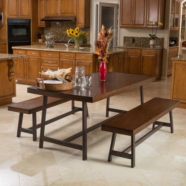 Mari Acacia Foldable 3Pc Dining Set