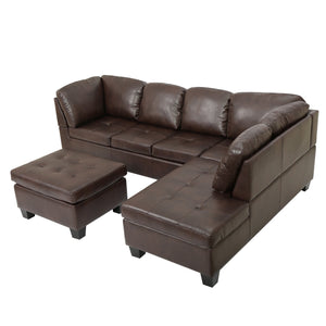 Candy Pu Leather Sectional Set