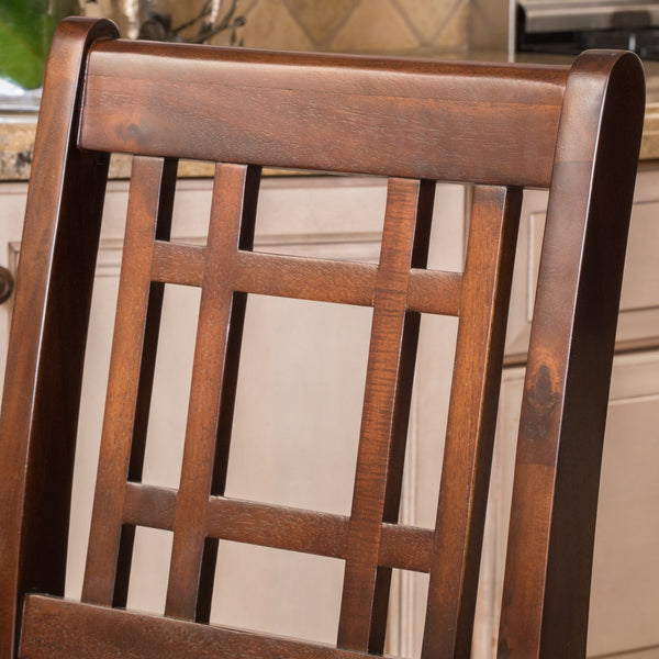 Lyons Mahogany Acacia Counterstool With Cushion
