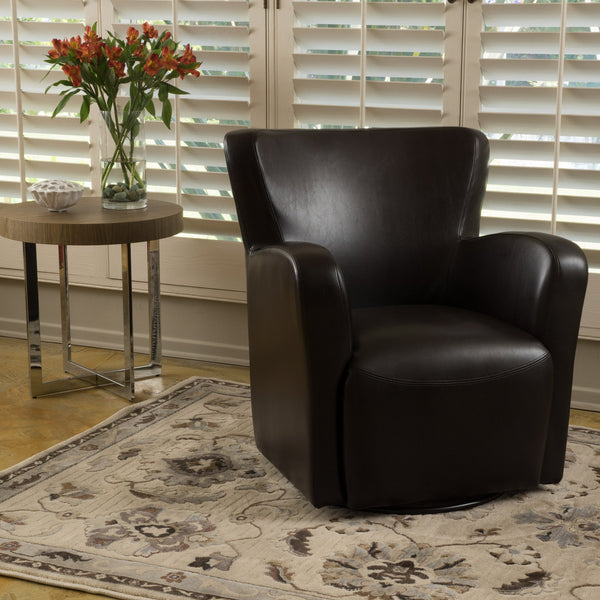 Ulrick Leather Swivel Chair
