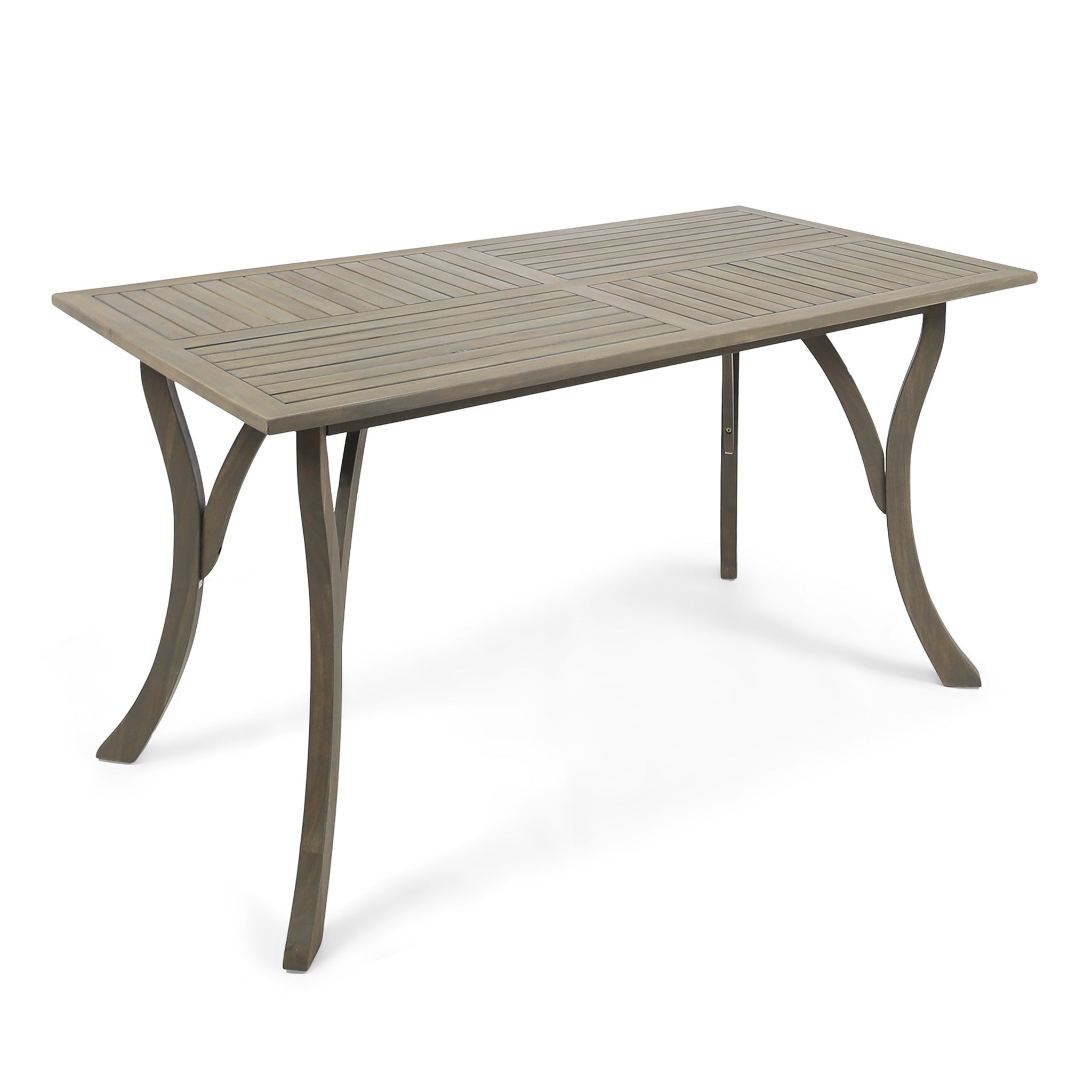 Hensley Outdoor Acacia Wood Rectangular Dining Table