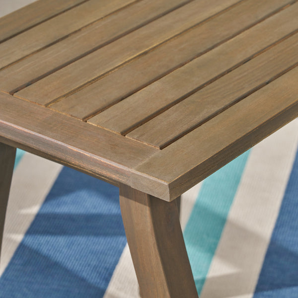 Seirra Outdoor Acacia Wood Accent Table