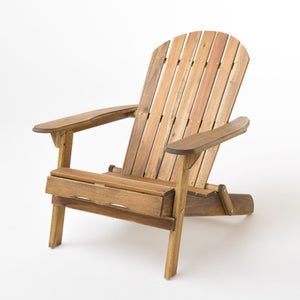 Hammond Outdoor Folding Adirondack Chair | Color: Natural, Quantity: Single, Single: Color, Color: Natural Stained