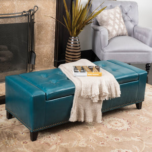 Chaucer Storage Ottoman with Studs
