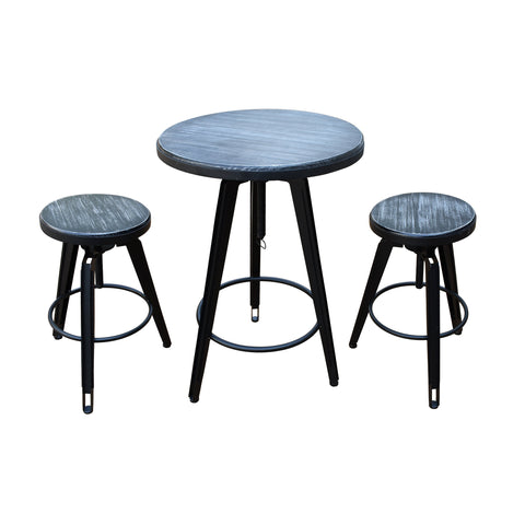 Irving Iron And Firwood Bistro Bar Set