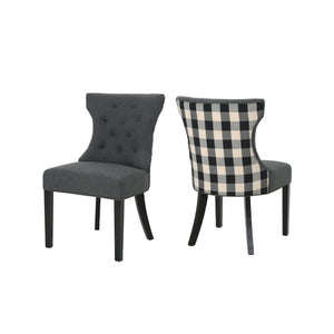 Mimi Traditional Two Toned Fabric Dining Chair