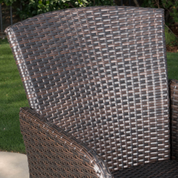 Amorie Outdoor Wicker Barstool Set | Color: Brown, Quantity : 2, 2: Color, Color: Multi-Brown