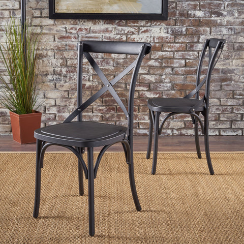 Sheffield Farmhouse Classic Plastic Nylon Dining Chairs (Set Of 2)
