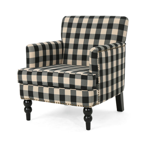 Harold Tufted Fabric Club Chair